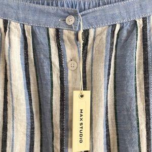 Max Studio linen blend maxi skirt pockets. Large
